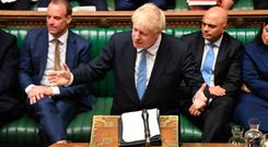 UK Prime Minister Boris Johnson makes a statement to MPs in the House of Commons, London. Photo: UK Parliament/Jessica Taylor/PA Wire