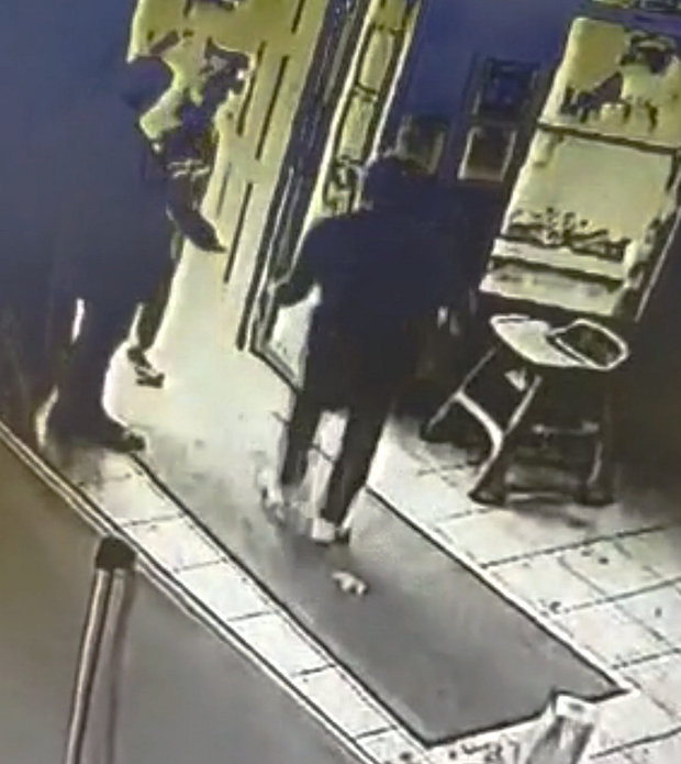CCTV footage from the Paddocks pub in Clonee shows Jason 'Jay' O'Connor carrying out the horrific slash attack