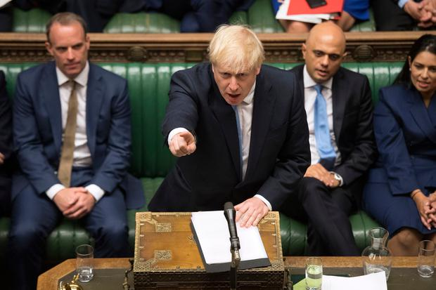 British Prime Minister Boris Johnson speaking in the House of Commons yesterday. Picture: PA