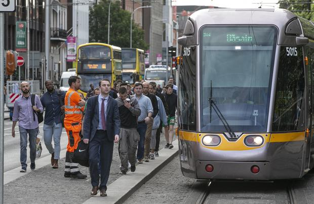 Overnight stabbing incident caused minor disruption for commuters this morning (Photo: Kyran O'Brien)