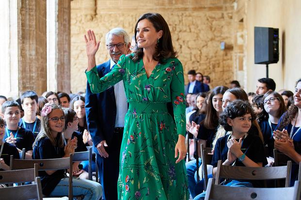 Queen Letizia Of Spain attends Musical School summer courses opening at the Archeological Museum on July 25, 2019 in Oviedo, Spain. (Photo by Carlos Alvarez/Getty Images)