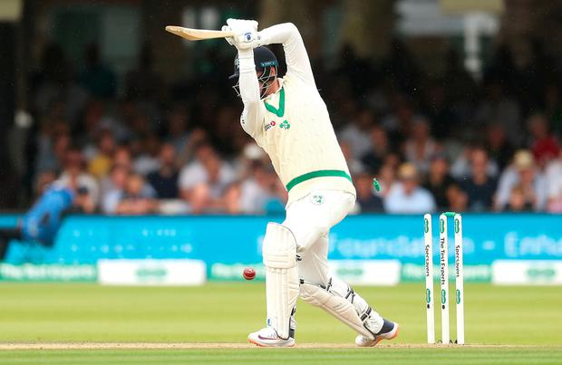 Ireland's Mark Adair is bowled out by England's Stuart Broad during day three of the Specsavers Test Series match at Lord's, London. Photo credit should read: Bradley Collyer/PA Wire.