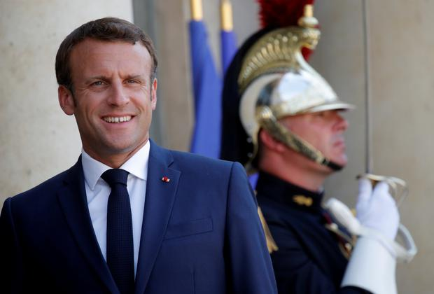 Emmanuel Macron: The new PM spoke with the French president. Photo: Reuters