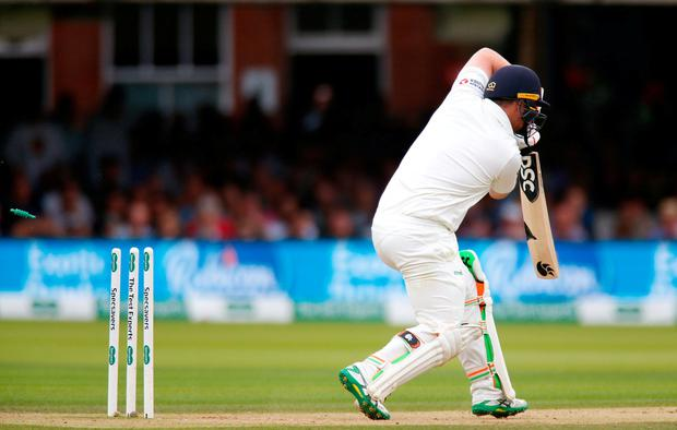 Final-day collapse amid perfect bowling conditions tells only half the tale of Ireland's valiant Lord's display. Photo: Matt Impey/Sportsfile