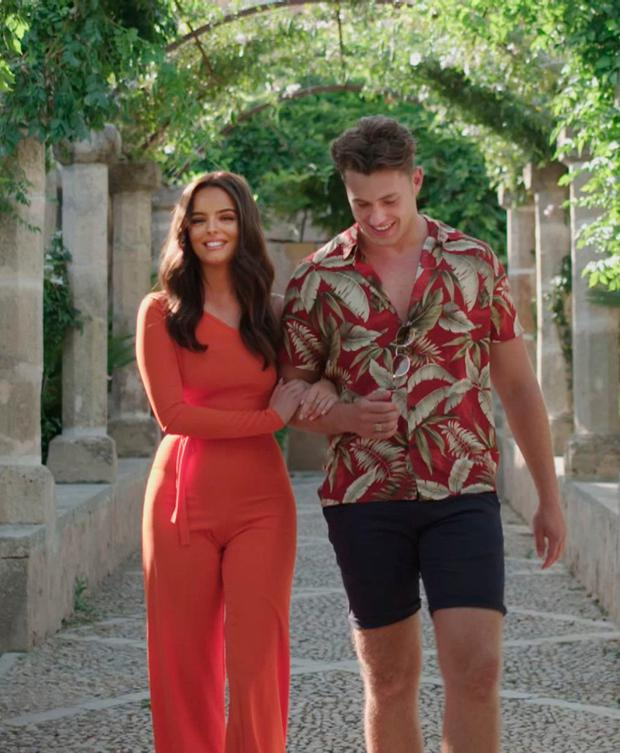 Love interest: Maura Higgins on a romantic date with Love Island beau Curtis Pritchard