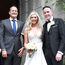 HAPPY COUPLE: Taoiseach Leo Varadkar and his partner Matt Barrett pictured at the wedding of Tom Neville TD and Jenny Dixon at Corpus Christi Church in Dublin's Drumcondra yesterday. Photo: Frank McGrath
