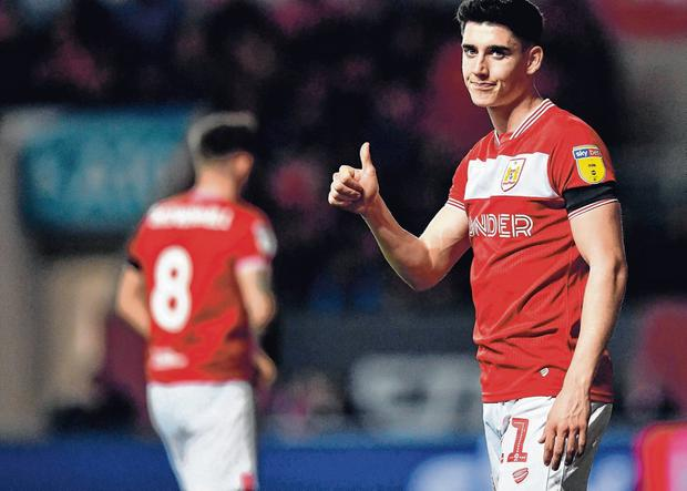 In demand: Callum O'Dowda has attracted the interest of a host of clubs, and he may leave Bristol City before deadline day. Photo: Harry Trump/Getty Images