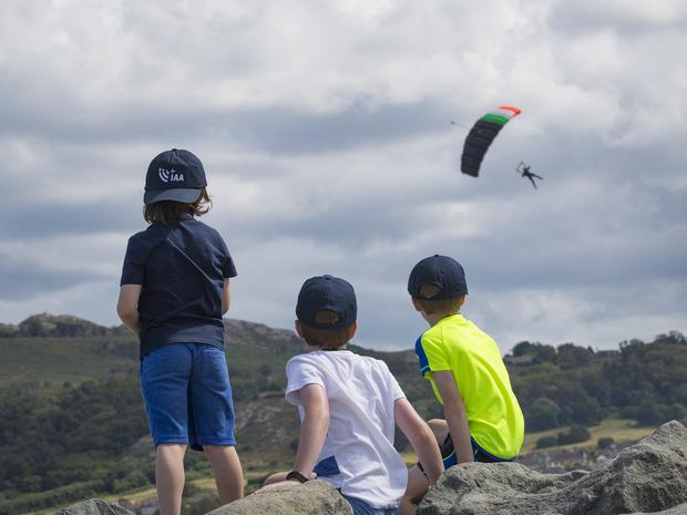 28/7/19 The Black Knights at the Bray Air Display in Bray, Co Wicklow. Picture:Arthur Carron