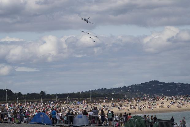 28/7/19 Air Lingus and the PC9s at the Bray Air Display in Bray, Co Wicklow. Picture:Arthur Carron