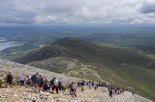 The annual Reek Sunday pilgrimage on Croagh Patrick in Co Mayo. Photo: Michael Mc Laughlin