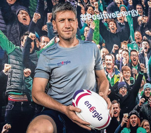 Ronan O'Gara at the launch of Energia's new rugby communication campaign yesterday. Photo: Billy Strickland/INPHO