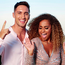 Greg O'Shea and Amber Gill, winners of 'Love Island', celebrate