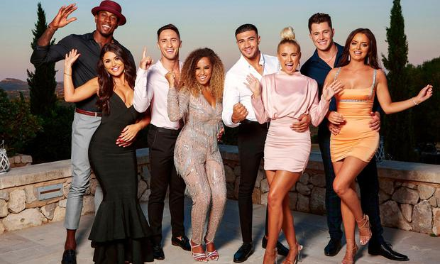 Ovie Soko and India Reynolds, Greg O'Shea and Amber Gill, Tommy Fury and Molly-Mae Hauge, Curtis Pritchard and Maura Higgins on Love Island