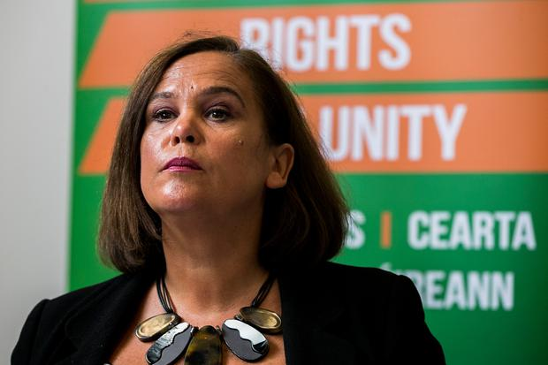 Sinn Féin president Mary Lou McDonald has called for a border poll in the event of a hard broder resulting from Brexit. Photo: Liam McBurney/PA Wire