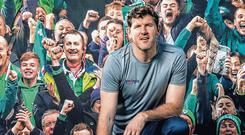 Shane Horgan at the launch of Energia's new rugby communication campaign 'The Power Behind Positive Energy. Photo: Billy Strickland/INPHO