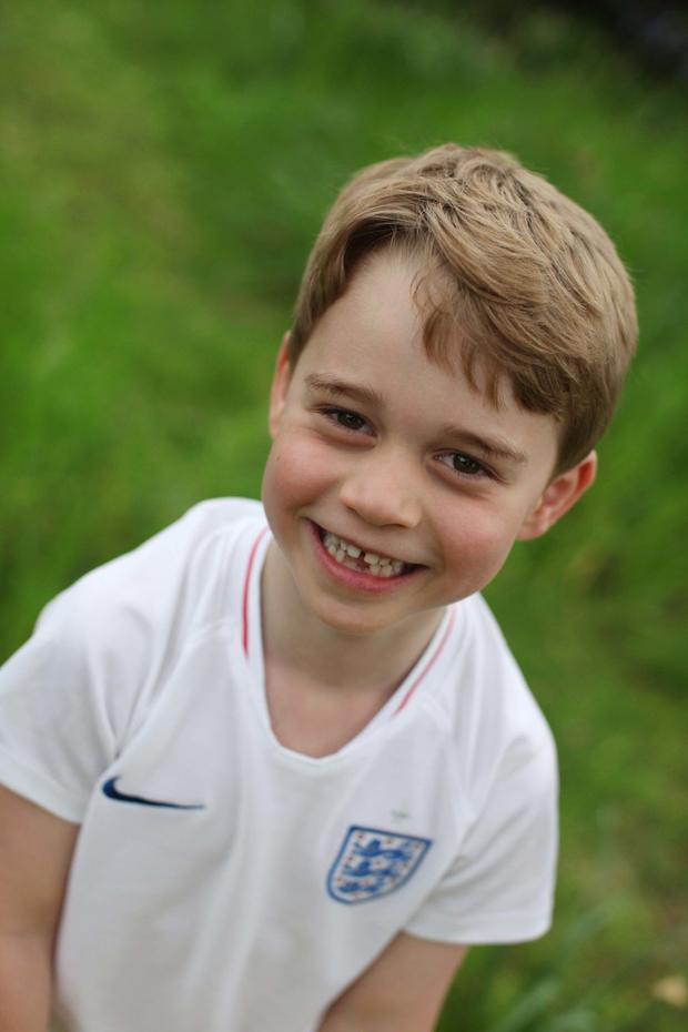 Kensington Palace released three portraits for his sixth birthday taken by his mother Kate Middleton