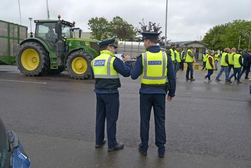 Gardaí at a recent farmer protest. Picture Denis Boyle