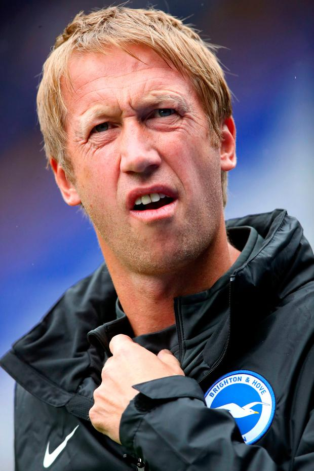 Graham Potter earned favourable reviews at Swansea for his side's slick style of play. Photo: Nick Potts/PA Wire.