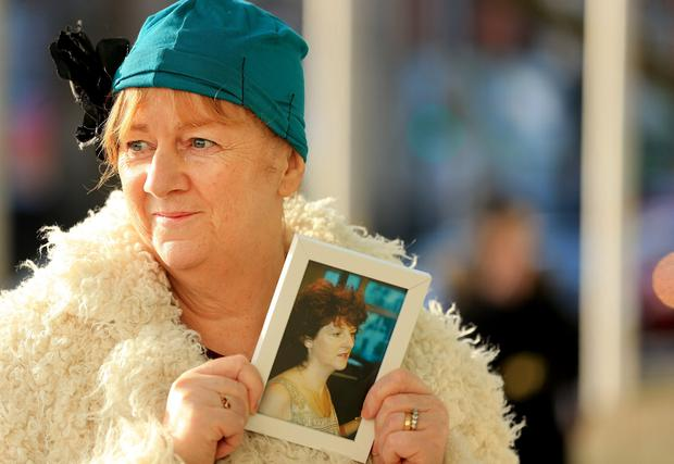 Anne Delcassian with a photo of her sister, Irene White. Photo: Gerry Mooney