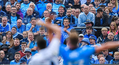 Crowds at Leinster football matches increased by 10 per cent despite Dublin's dominance. Photo: Sportsfile