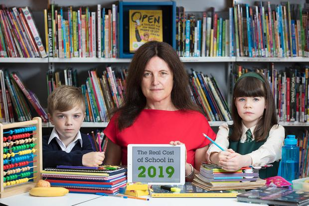 'Too much': Barnardos chief executive Suzanne Connolly launches the charity's school costs survey. Photo: Patrick Bolger