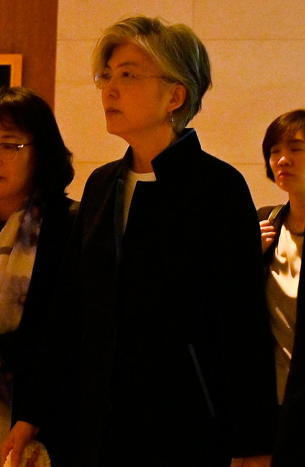 Mission: South Korea's Foreign Minister Kang Kyung-wha arrives for meetings in Bangkok Photo: Getty Images