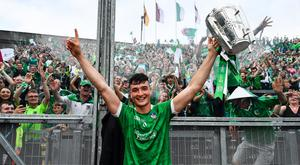 Kyle Hayes celebrates the All-Ireland win in 2018
