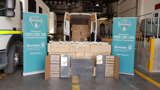 Cigarettes, branded as Marlboro Gold and MB Blue, have a retail value of 292,000, that were seized in Dublin Port