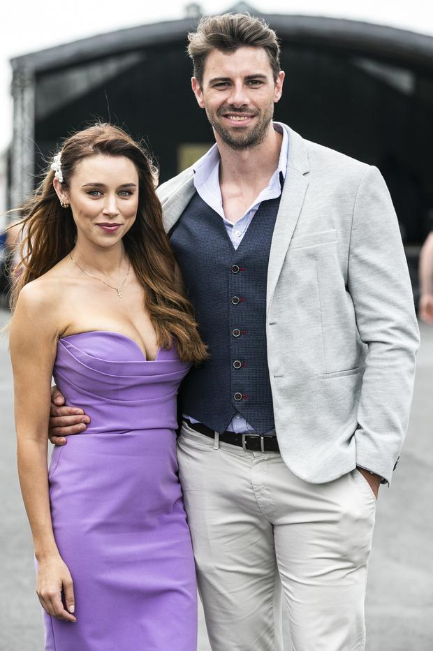Una Healy with David Breen pictured at the Galway Races in Ballybrit last week