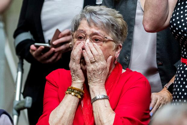 Joan Mckee, the mother of murdered journalist Lyra McKee, at the launch of her daughters first book titled Angels with Blue Faces. Photo:Liam McBurney/PA Wire