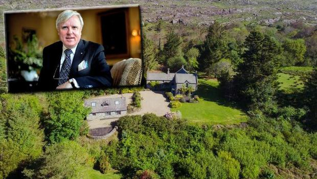 Francis Brennan (inset) has put his Kenmare home on the market