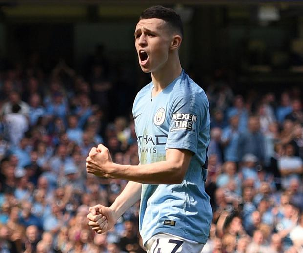 Manchester City's English midfielder Phil Foden. Photo: Oli Scarff/AFP/Getty Images