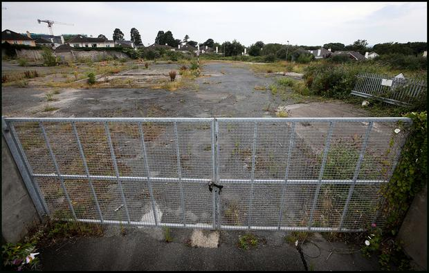 The vacant plot on Mount Anville Road which has been earmarked for Traveller accommodation since 1985. Picture: Steve Humphreys