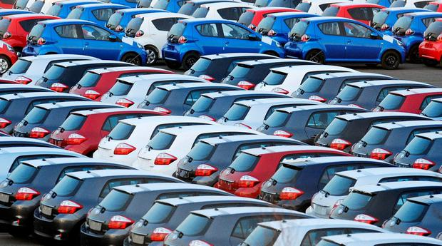The surge in used imports means dealers are having to compete with the price of UK imports and new car sales are hit, too, as buyers are lured by 'nearly-new' bargains in the UK (stock photo)