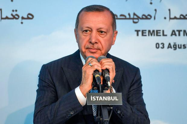 Tayyip Erdoğan said the US and Russia know of plan. Photo: Getty Images