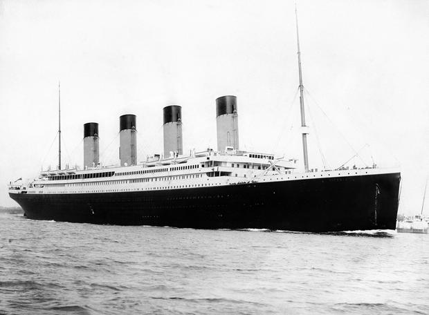 The RMS Titanic which was built at the Harland and Wolff shipyard in Belfast which is due to be placed into administration later on today. Photo: PA/PA Wire