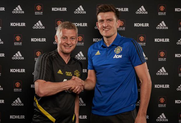 Harry Maguire has signed with Manchester United. Image credit: Manchester United.