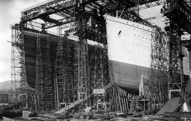 Harland and Wolff, the yard that built the Titanic. AP Photo/Library of Congress