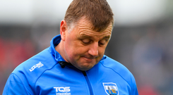 Managerial merry-go-round: Former Waterford boss Páraic Fanning cut a dejected figure against Limerick in Walsh Park. Photo: Sportsfile