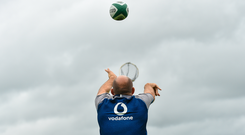 Rory Best during Ireland Rugby squad training at Carton House in Maynooth, Kildare. Photo by Ramsey Cardy/Sportsfile