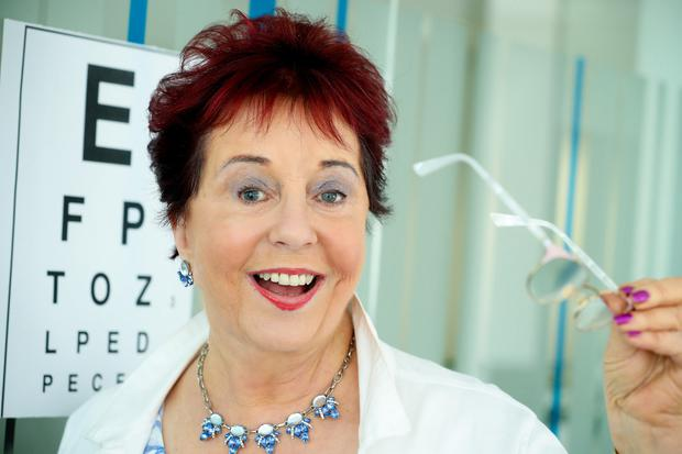 Eye on the future: Betty Kelly (71), who works as a receptionist at an opticians. Photo: MAXWELLS DUBLIN