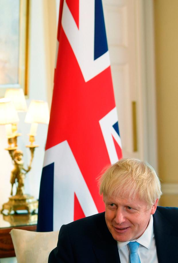Pressure: British Prime Minister Boris Johnson attends a meeting with King Abdullah II of Jordan at 10 Downing Street. Photo: Toby Melville/PA Wire