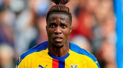 Wilfried Zaha is hoping to secure a move away from Crystal Palace. Photo: Mike Egerton/PA Wire