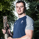 Standing tall: James Ryan with his Guinness Rugby Writers award