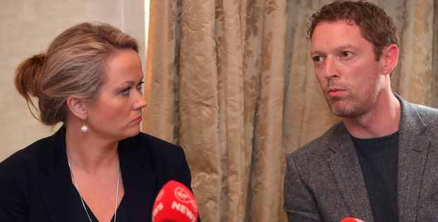 Lorraine Walsh and Stephen Teap. Photo: Niall Carson/PA Wire