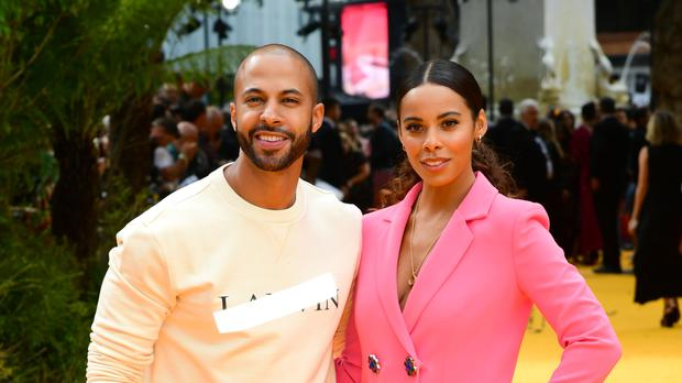 Marvin and Rochelle Humes at The Lion Kind premiere (Ian West/PA)