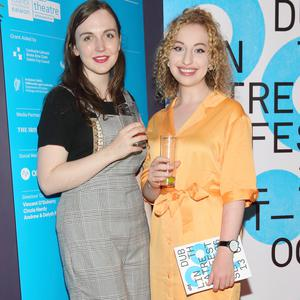 Lisa Nally and Laoise Murray at the launch the programme for Dublin Theatre Festival 2019 at the Uykio lounge. Picture: Brian McEvoy Photography
