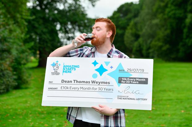 Dean Weymes scooped a lottery win of £10,000 per month for the next 30 years Photo credit: National Lottery/PA Wire