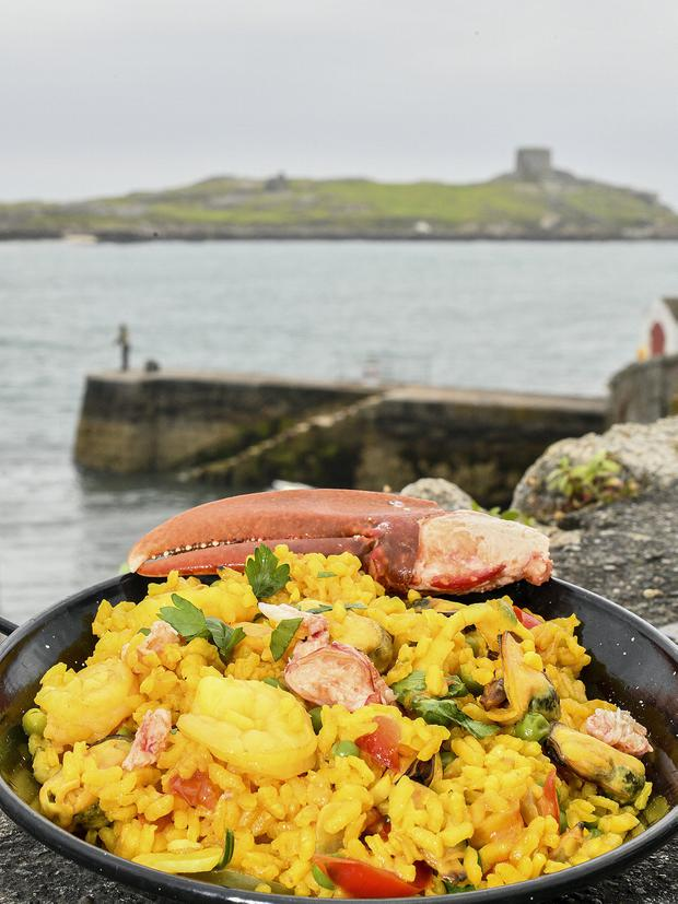 Lobster Paella by Peter Roberts of Roberts of Dalkey. Photo: Michael Chester