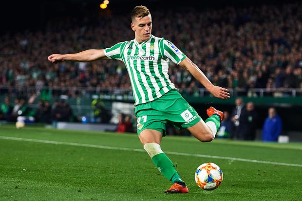 Giovani Lo Celso has signed on a year long loan for Spurs from Real Betis. (Photo by Aitor Alcalde/Getty Images)